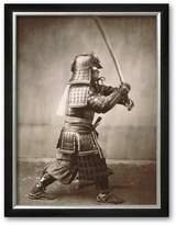 """Art.com Samurai Brandishing Sword"""" Framed Art Print"""