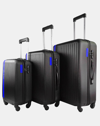 Jett Black Jetsetter Blue Luggage Set