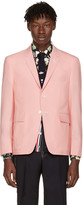 Thom Browne Pink Constructed Square Pocket Blazer