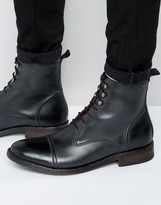 Base London Clapham Lace-Up Leather Boots