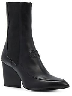 Salvatore Ferragamo Women's Pointed Toe High Heel Boots