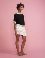 Cynthia Rowley Striped Ruffle Mini Skirt