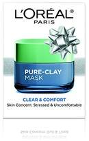 L'Oreal Skin Care Pure Clay Mask for Holiday,1.7 Ounce
