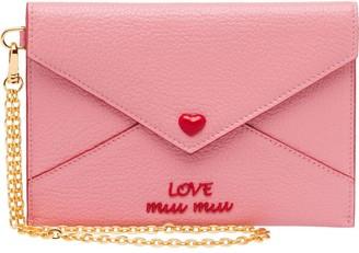 Miu Miu Love Logo envelope pouch