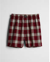 Express red cotton flannel boxers