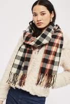 Grid pop striped scarf