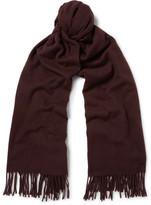 Acne Studios Canada Virgin Wool Scarf - Red