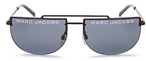 Marc Jacobs Women's Flat Top Brow Bar Rimless Aviator Sunglasses, 56mm