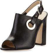 Etienne Aigner Kierra Grommet Leather Sandal, Black
