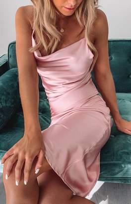 Beginning Boutique Schiffer Slip Midi Dress Blush