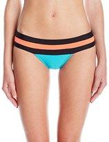 Pilyq Women's Banded Color Block Full Bikini Bottom