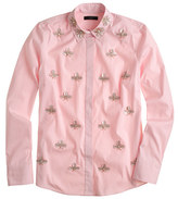 J.Crew Collection jeweled paillette boy shirt