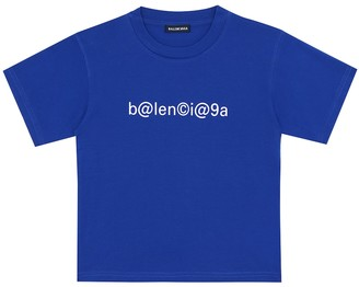 Balenciaga Kids Logo cotton T-shirt