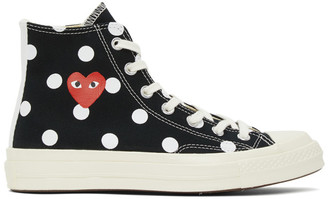 Comme des Garcons Black Converse Edition Polka Dot Heart Chuck 70 Sneakers