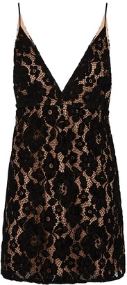 Free People Dangerous Love black lace mini dress