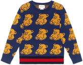 Gucci Children's bear jacquard sweater