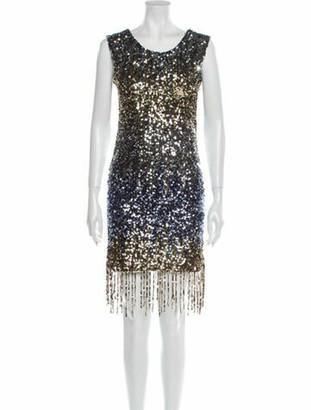 Faith Connexion Scoop Neck Mini Dress w/ Tags Gold