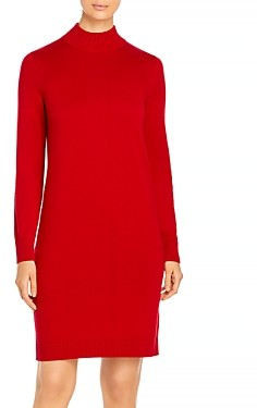 HUGO BOSS Fabelletta Long Sleeve Turtleneck Dress