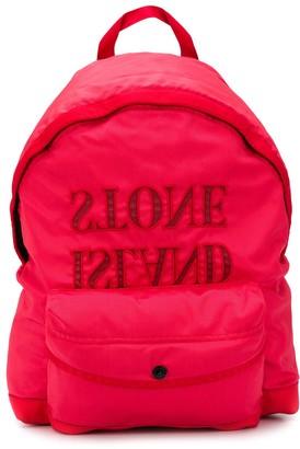 Stone Island Junior Logo Print Backpack