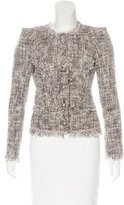Zac Posen Long Sleeve Tweed Jacket