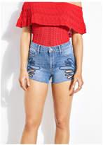 Guess 1981 High-Rise Denim Shorts