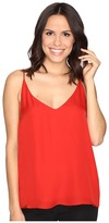 Heather Silk Double Layer Cami Top Women's Clothing