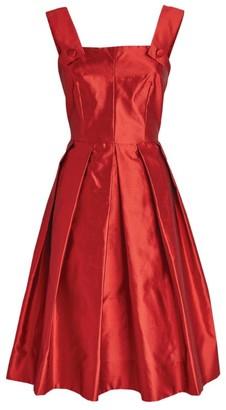 Dolce & Gabbana Silk A-Line Midi Dress