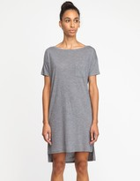 Alexander Wang Classic Boatneck Dress in Grey