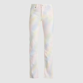 Ganni Multicoloured Shiloh Rainbow Straight-Leg Jeans 29