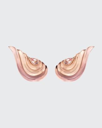 Fernando Jorge Gleam Earrings 18K Rose Gold, Morganite, Rose Quartz, Amethysts