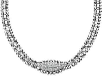 Lagos Caviar Spark Diamond Marquis Necklace