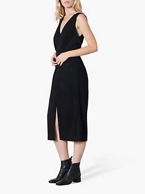 Finery Aylmer Crinkle Pencil Dress, Black