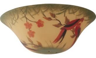 "Fanimation 4.5"" H x 14"" W Glass Bowl Ceiling Fan Bowl Shade ( Screw On ) in Beige/Red"