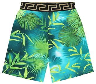 Versace Kids Printed cotton shorts