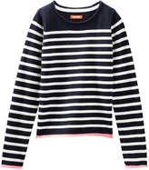 Joe Fresh Kid Girls' Crew Neck Sweater, Navy (Size L)