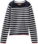 Joe Fresh Kid Girls' Crew Neck Sweater, Navy (Size M)