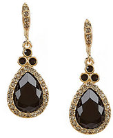 Givenchy Pave Teardrop Earrings