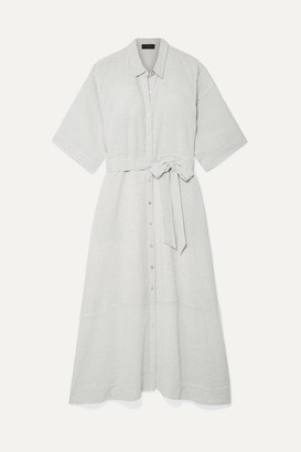 Hatch The Elsa Striped Voile Midi Dress - White