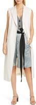 Brunello Cucinelli Pinstripe Stretch Cotton & Linen Vest