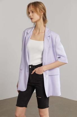 J.ING Briana Lavender Short Sleeve Blazer