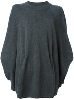 Twin-Set poncho sleeves oversized jumper