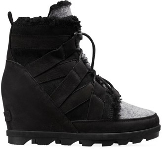 Sorel Joan of Arctic II Shearling-Lined Wedge Boots