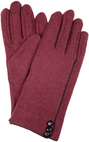 Dents Soft Feel Gloves with Button and Piping Trim