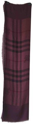 Burberry Burgundy Cashmere Scarves