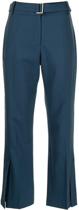 Eudon Choi Belted-Waist Cropped Trousers