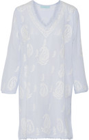 Melissa Odabash Lucy embroidered voile coverup