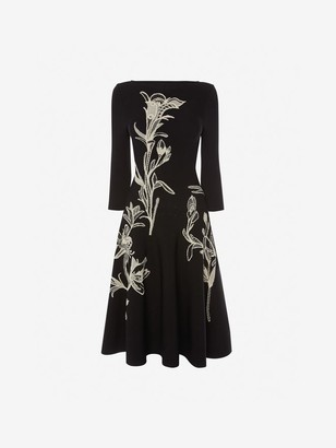 Alexander McQueen Flower Jacquard Dress