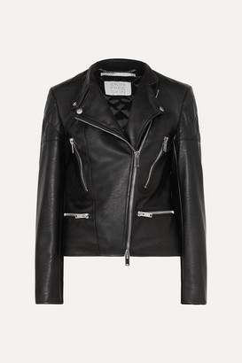 Stella McCartney Faux Leather Biker Jacket - Black
