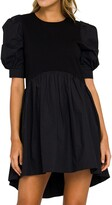 Thumbnail for your product : ENGLISH FACTORY High-low Knit Combo Mini Dress