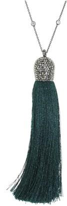 Cosanuova Emerald Tassel Necklace